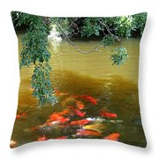 Koi Party Throw Pillow