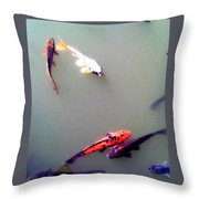 Koi Pond Brooklyn Throw Pillow