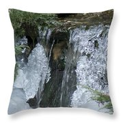 Koi Pond Waterfall Throw Pillow