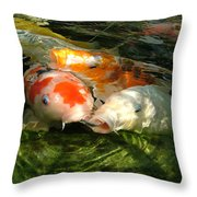 Koi Ripples Throw Pillow
