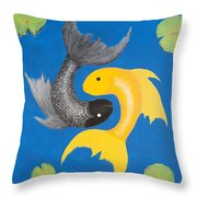 Koi Yin-yang Throw Pillow
