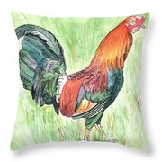 Kokee Rooster Throw Pillow