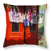 Kokina Red Door Throw Pillow
