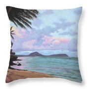 Koko Palms Throw Pillow