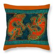 Kokopelli Dancers Throw Pillow
