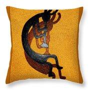 Kokopelli Golden Harvest Throw Pillow