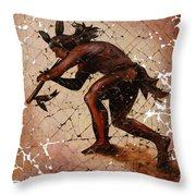 Kokopelli The Flute Player  Throw Pillow