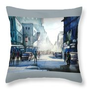 Kolkata City Throw Pillow