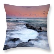 Koloa Sunset Throw Pillow by Mike  Dawson