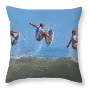 Kolohe Andino Compilation Throw Pillow