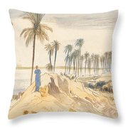 Kom El Amhr, 1 Pm, 4 January 1867 Throw Pillow