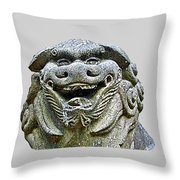 Komainu04 Throw Pillow