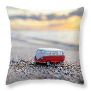 Kombi Beach Throw Pillow