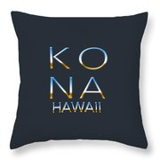 Kona Hawaii Throw Pillow