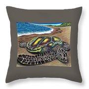 Kona Turtle Throw Pillow