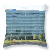 Kone Building Throw Pillow