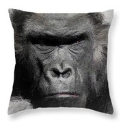 Kong Of The Jungle - Painted Throw Pillow