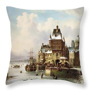 Konigsberg Throw Pillow by Ludwig Hermann