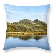 Konigsleiten Mountain Top. Tyrol, Austria Throw Pillow