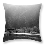 Konigssee Lake And Saint Bartoloma Throw Pillow
