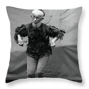Koo Koo The Bird Girl Front Throw Pillow