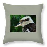 Kookaburra Portrait By Kaye Menner Throw Pillow