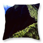 Koolau Summit Trail Ridge Throw Pillow