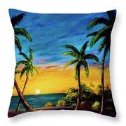Ko'olina Sunset On The West Side Of Oahu Hawaii #299 Throw Pillow