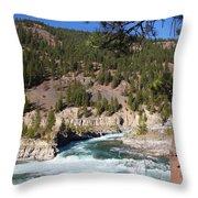 Kootenai Falls, Montana Throw Pillow