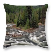 Kootenai River Throw Pillow