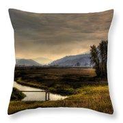 Kootenai Wildlife Refuge In Hdr Throw Pillow