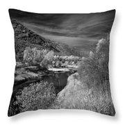 Kootenai Wildlife Refuge In Infrared 4 Throw Pillow