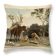 Korah Hottentots Preparing To Remove Throw Pillow
