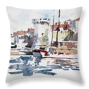 Korcula,croatia Throw Pillow