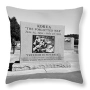 Korea The Forgotten War  Throw Pillow