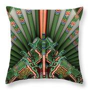 Korean Bell Of Friendship Detail San Pedro Throw Pillow