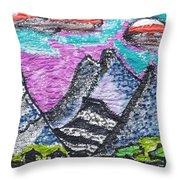 Korean Hills Throw Pillow