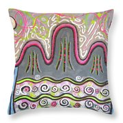 Korean Landscape Painting Throw Pillow