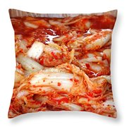 Korean Style Fermented Spicy Cabbage Throw Pillow