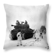 Korean War: Allied Forces Throw Pillow