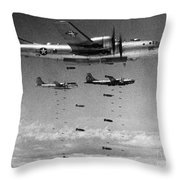 Korean War: B-29 Bombers Throw Pillow