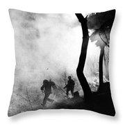Korean War: Combat, 1951 Throw Pillow