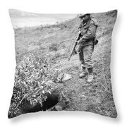 Korean War: Foxhole, 1951 Throw Pillow