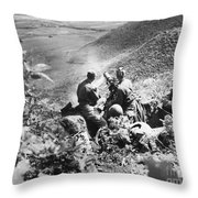 Korean War: Machine Gun Throw Pillow