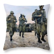 Korean War: Marines, 1953 Throw Pillow