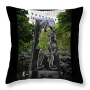 N Y Korean War Memorial 1 Throw Pillow
