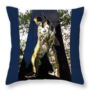 N Y Korean War Memorial 3 Throw Pillow