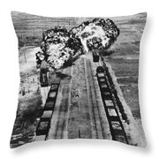 Korean War: Napalm Raid Throw Pillow