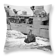 Korean War: Navy Mailbag Throw Pillow