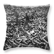 Korean War: Shell Casings Throw Pillow